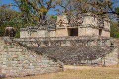 Fördärvar av den forntida Mayan staden av Copan Royaltyfri Foto
