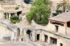 Fördärvar av den forntida Roman Herculaneum, Italien royaltyfri bild