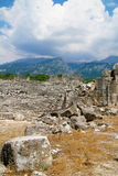 Fördärvar av den forntida romerska teatern Fotografering för Bildbyråer