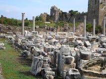 Fördärvar av den forntida staden Arkivfoton