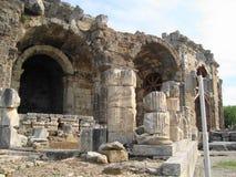 Fördärvar av den forntida staden Royaltyfri Bild