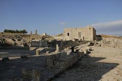Fördärvar av den forntida staden av Dugga, Tunisien Arkivbild