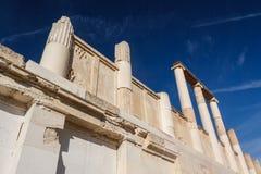 Fördärvar av den forntida staden av Epidaurus Fotografering för Bildbyråer