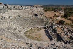 Fördärvar av den forntida staden av Miletus Royaltyfri Fotografi