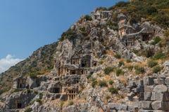 Fördärvar av den forntida staden av Myra (Demre) Royaltyfri Bild