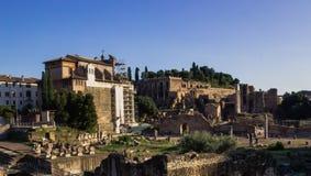 Fördärvar av den forntida staden av Rome Arkivfoto