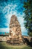 Fördärvar av den forntida staden Ayutthaya Arkivfoton