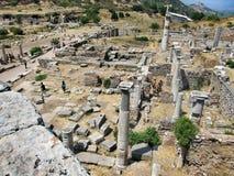 Fördärvar av den forntida staden Ephes Arkivbild