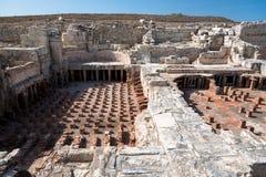 Fördärvar av den forntida staden, Kourion, Cypern Arkivbild