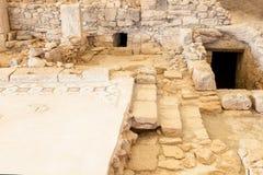 Fördärvar av den forntida staden Kourion på Cypern Arkivfoto