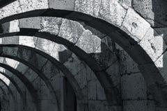 Fördärvar av den forntida staden Smyrna Izmir Turkiet Arkivbilder