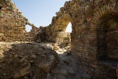 Fördärvar av den forntida stenstaden av sidan royaltyfria foton