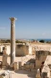 Fördärvar av den forntida teatern - kolonnmarmor Arkivbilder