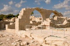 Fördärvar av den forntida teatern - kolonnmarmor Royaltyfri Foto