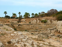 Fördärvar av den forntida templet av Apollo i parkera Monte Smi Royaltyfri Fotografi