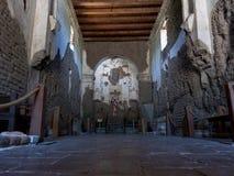 Fördärvar av den Franciscan kyrkan på corien för beskickningSan José de Tumacà ¡ royaltyfri foto