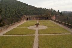 Fördärvar av den gamla slotten Hardenburg Royaltyfria Bilder