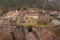 Fördärvar av den gamla slotten Hardenburg Fotografering för Bildbyråer