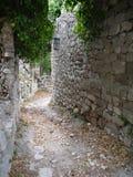 Fördärvar av den gamla stången (den Stary stången), Montenegro Arkivbild