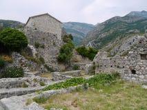 Fördärvar av den gamla stången (den Stary stången), Montenegro Fotografering för Bildbyråer