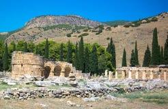 Fördärvar av den gamla staden Arkivbilder
