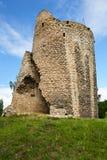 Fördärvar av den gotiska slotten Michalovice, Mlada Boleslav Arkivfoto