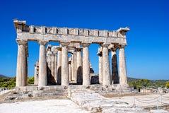 Fördärvar av den groteska templet Arkivbild
