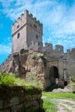 Fördärvar av den Helfenburk slotten, nära Ustek, Bohemia, Tjeckien, Europa Arkivfoto