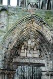 Fördärvar av den Holyrood abbotskloster Arkivfoto