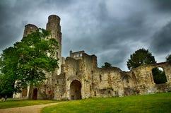 Fördärvar av den Jumieges abbotskloster, Frankrike Arkivfoto