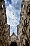 Fördärvar av den Jumieges abbotskloster, Frankrike Royaltyfri Bild