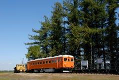 Fördärvar av den Kofuku stationen, Hokkaido, Japan Royaltyfria Bilder