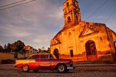 Fördärvar av den koloniala katolska kyrkan av Santa Ana i Trinidad, Royaltyfria Bilder