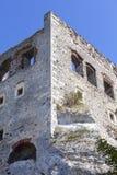 Fördärvar av den medeltida slotten för det 14th århundradet, den Ogrodzieniec slotten, Polen Arkivbild