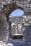 Fördärvar av den medeltida slotten för det 14th århundradet, den Ogrodzieniec slotten, Polen Royaltyfri Foto