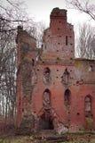 Fördärvar av den medeltida Teutonic slotten Balga Royaltyfria Foton