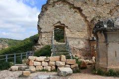 Fördärvar av den Monfort slotten, Israel royaltyfria bilder