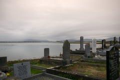 Fördärvar av den Murrisk abbotskloster, ståndsmässiga Mayo, Irland Fotografering för Bildbyråer