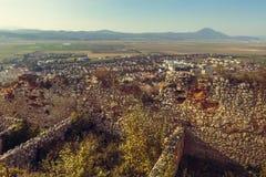 Fördärvar av den Rasnov citadellen royaltyfria foton