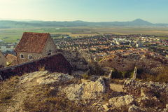 Fördärvar av den Rasnov citadellen arkivfoto
