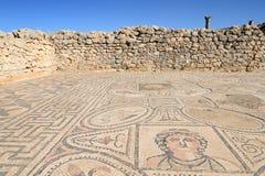 Fördärvar av den Roman Volubilis staden i Marocko Arkivfoto