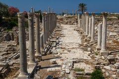 Fördärvar av den romerska staden i däck Royaltyfria Bilder