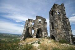 Fördärvar av den Somlo slotten Arkivbilder