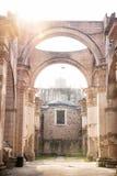 Fördärvar av den Templo de San Jose domkyrkan med panelljuset, Antigua, Guatemala, Central America royaltyfri foto