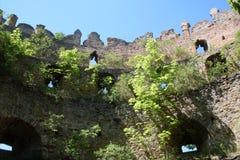 Fördärvar av det forntida slottet Royaltyfria Foton