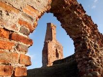 Fördärvar av det gammala slottet Royaltyfri Fotografi
