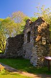 Fördärvar av det Pitcairn huset, Glenrothes - gamla Glenrothes gränsmärken Arkivbilder