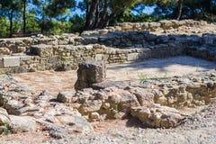 Fördärvar av en forntida akropol Arkivbild
