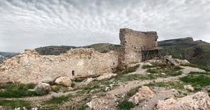 Fördärvar av en forntida fästning Royaltyfria Foton