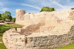 Fördärvar av en forntida fästning Fotografering för Bildbyråer